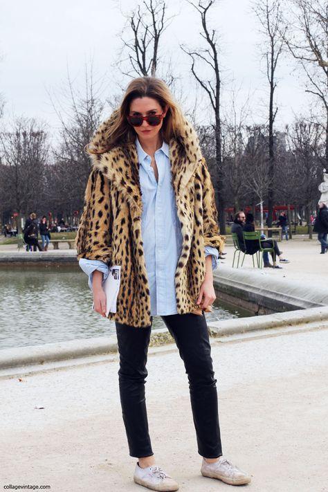 Toma nota! Este invierno los abrigos de piel se combinan con sneakers