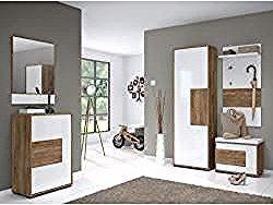 Garderobe Komplett Set C Manase 5 Teilig Farbe Eiche Braun