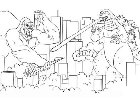 Godzilla Coloring Pages Printable Coloring Pages Birthday Coloring Pages Printable Coloring Pages