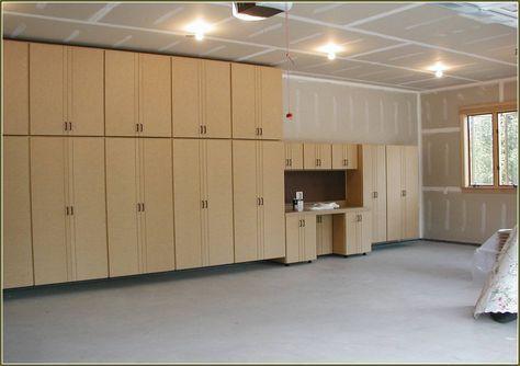 Diy Garage Cabinets To Make Your Garage Look Cooler Avec Images Rangement Garage Rangement Garage