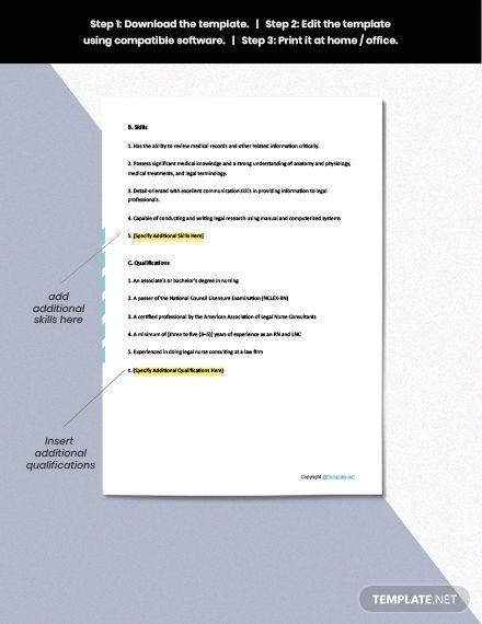 Rn Legal Consultant Job Description Template Free Pdf Google Docs Word Apple Pages Template Net Job Description Template Job Description Cover Letter Template