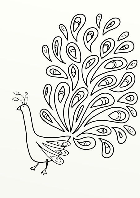Image Result For Printable Peacock Feather Template Peacock