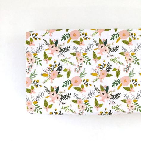 Hey, I found this really awesome Etsy listing at https://www.etsy.com/listing/249695617/changing-pad-cover-blush-sprigs-and