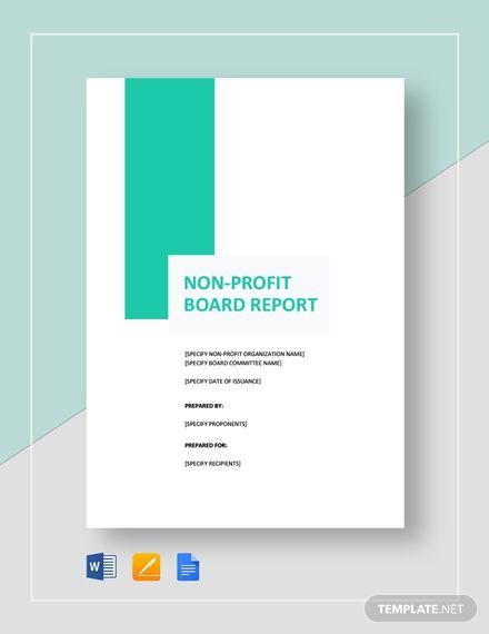 Non Profit Board Report Template Word Doc Apple Mac Pages Google Docs Report Template Nonprofit Template Board Report