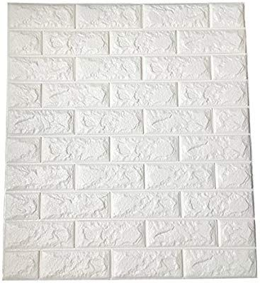 Amazon Com Art3d 64 Sq Ft Peel And Stick 3d Wall Panels For Interior Wall Decor White Brick Wallpaper Brick Wall Paneling Vinyl Wall Panels Brick Wallpaper