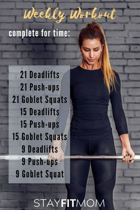 Weekly Workout - Stay Fit Mom
