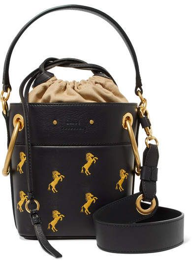 ab7e46a21f Chloé - Roy mini embroidered leather bucket bag in 2019 | Products ...
