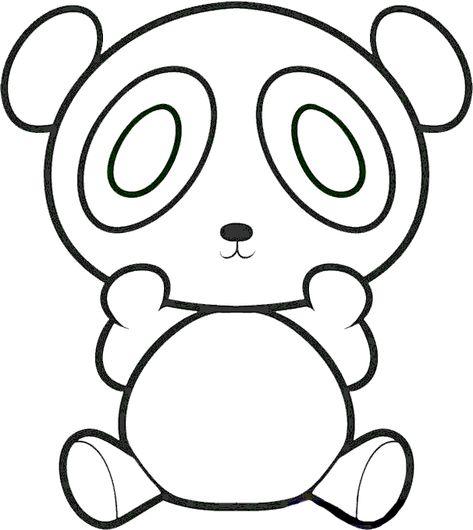 Panda Boyama Sayfasi Kolay Cizimler Boyama Sayfalari Ve Hayvan