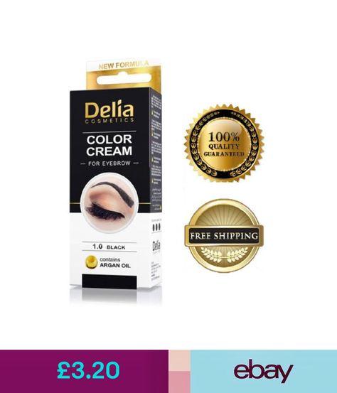 a3050eaea79 Eyes Delia Eyelash & Eyebrow Dye Tint Lash Kit Full Kit With Argan Oil  Black #