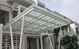 kanopi baja ringan atap kaca kelebihan menggunakan dalam desain minimalis untuk rumah