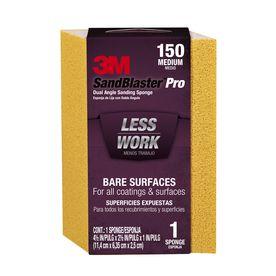3M SandBlaster Dual Angle Sanding Sponge 150-Grit