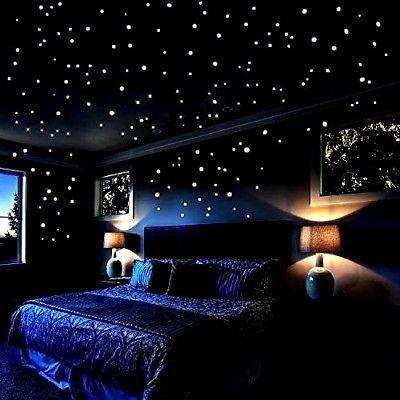 Detalhes Sobre Brilha No Escuro Estrelas Wall Stickers 252 Pontos