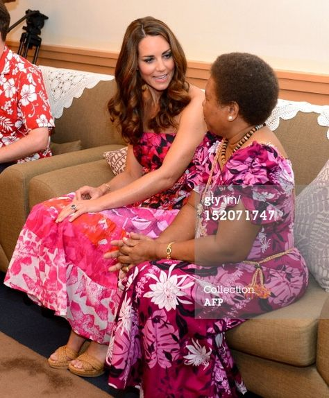News Photo: Catherine the Duchess of Cambridge chats with the…