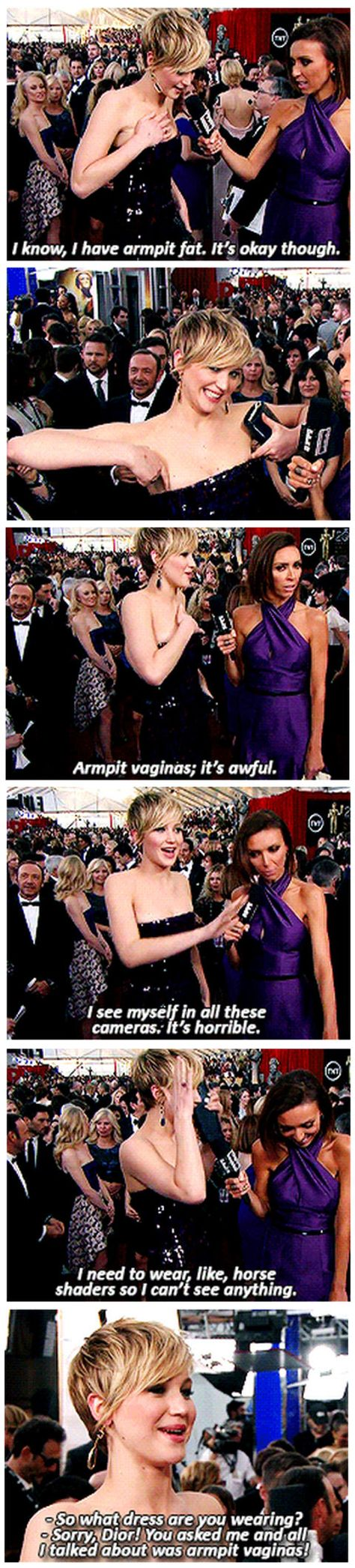 Omg, Juliana's face in the vagina one ~ Jennifer Lawrence on the red carpet…