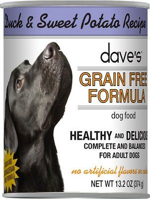 Dave S Pet Food Grain Free Duck Sweet Potato Recipe Canned Dog Food 13 2 Oz Case Of 12 Chewy Com In 2020 Dog Food Recipes Canned Dog Food Grain Free Dog Food