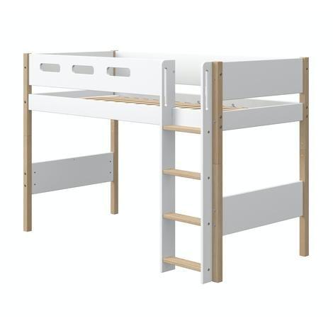 Flexa Nor Mittelhohes Bett 90x200 Cm Mit Senkrechter Leiter In
