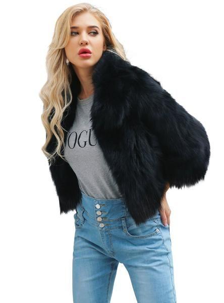Women S Black Fox Fur Coat Faux Fur Short Coat Womens Faux Fur Coat Short Faux Fur Coat Long Faux Fur Coat