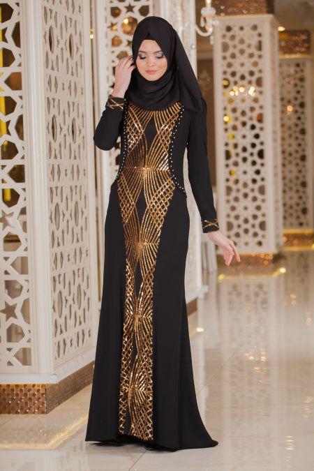 Siyah Tesettur Abiye Elbise 2167s Siyah Abiye The Dress Aksamustu Giysileri