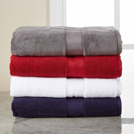 Hotel Style 5 Piece Solid Color Bath Towel Set Blue Luxury