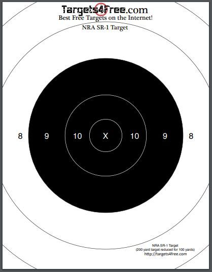 graphic about Printable Nra Pistol Targets identified as Pin by way of Aims 4 No cost upon Free of charge Printable Capturing Goals
