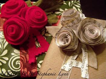 Rolled Flower Gift Toppers - bystephanielynn