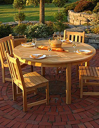 5 Foot Round Dining Table Round Outdoor Dining Table Teak Table