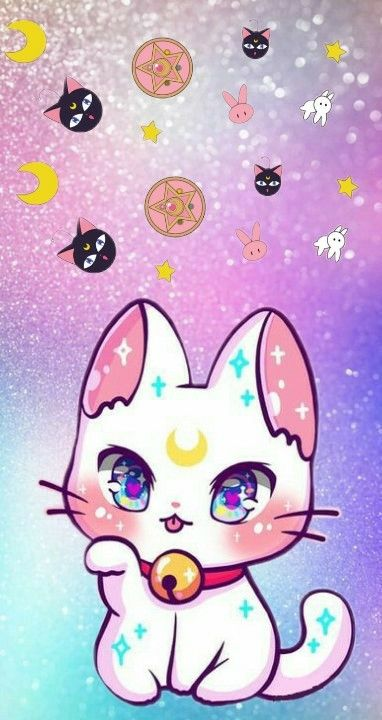 Wallpaper Cat Sailor Moon Cute Animal Drawings Kawaii Kawaii Cat Drawing Cute Animal Drawings