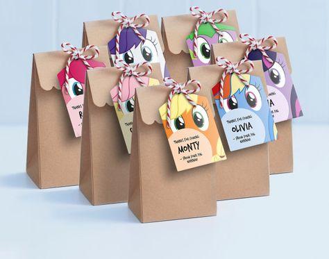 My Little Pony Lollie Bag Tags - Printable Loot Bag Tags / My Little Pony Labels / My Little Pony Gift Tags / Pinky Pie, Rainbow Dash, Spike