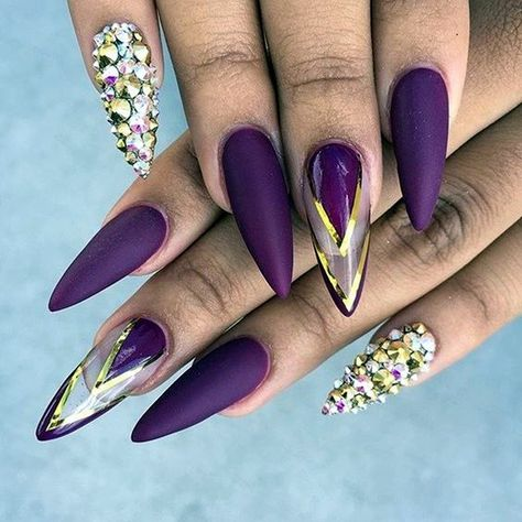 Cute Purple Nail Art Designs To Try In 2019 - Fashion 2D