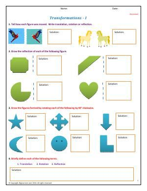 Worksheet Transformation I Learn About Types Of Transformation In Shapes When They Move Is It Tra Reflection Drawing Types Of Transformations Worksheets