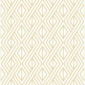 Nextwall Gold Diamond Geometric Vinyl Peelable Wallpaper Covers 30 75 Sq Ft Nw30105 The Home Depot Peel And Stick Wallpaper Peelable Wallpaper Geometric Wallpaper