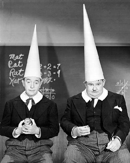 Laurel and Hardy were a popular comedy act of early classical Hollywood cinema. With thin Englishman Stan Laurel (1890–1965) and fat American Oliver Hardy (1892–1957), they became famous from late 1920s-mid-1940s for their slapstick comedy. Laurel played the clumsy, childlike friend of the pompous Hardy.
