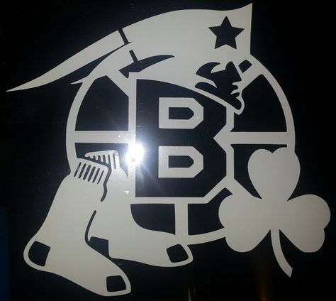 Boston Sports Window Decal (Bruins, Patriots, Celtics and Red Sox) on