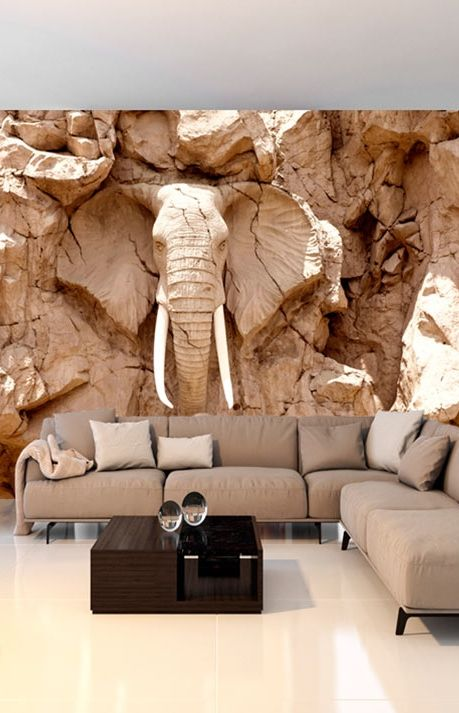 Foto Tapete Stone Elephant (South Africa) | 3d tapete ...