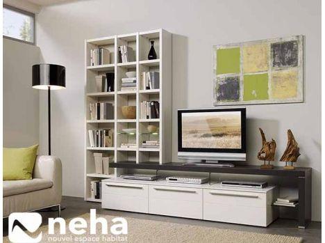 Incorporez Votre Bibliotheque A Votre Meuble Tv Haut De Gamme Bois Et Laque Nombreuses Collections Disponible Meuble Tv Haut Rangement Haut Mobilier De Salon