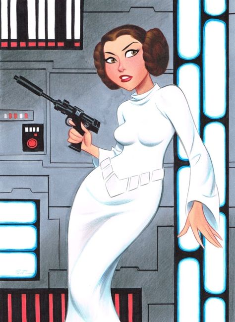 Leia, by Bruce Timm.                                                       …