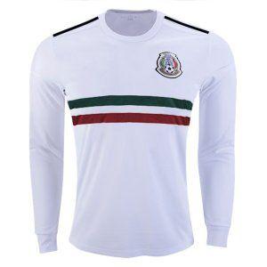 official photos 2e971 736cf 2018 World Cup LS Jersey Mexico Away Replica White Shirt ...