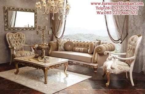 desainer sofa tamu mewah terbaru, gambar kursi sofa ukiran