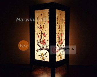 Asiatique Oriental Koi Fish Lucky Japanese Lamp Zen Bedside Etsy Japanese Lamps Lamp Pink Lamp Shade