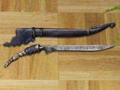 Senjata Tradisional Sumatera Utara Senjata Ilustrasi Karakter Pedang