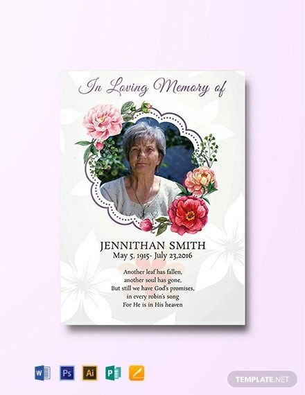 Instantly Download Free Floral Funeral Thank You Card Sample Example In Microsoft Word Do Funeral Thank You Cards Funeral Thank You Thank You Card Template