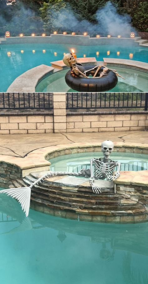 We have listed skeleton Halloween decoration ideas for outdoors. These ideas will add a fun and humour to your Halloween celebration. Halloween Prop, Halloween Skeleton Decorations, Halloween Party Decor, Holidays Halloween, Halloween Witches, Happy Halloween, Halloween Displays, Halloween Themes, Scary Halloween Yard