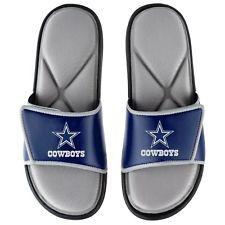 sale retailer b11af ead84 NFL Dallas Cowboys Men's Deluxe Foam Sport Slide Sandals ...