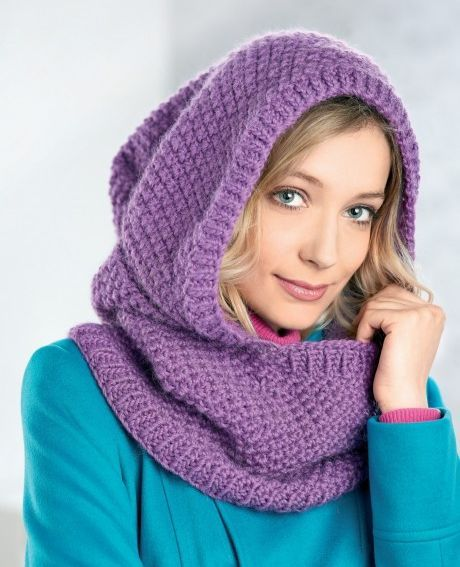 Free Knitting Pattern For Easy Hooded Cowl Cozy Hood By Gina