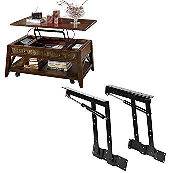 Spring-actuated Lift up Top Modern Coffee Table Desk Mechanism Hardware Fitting Convertible Furniture Hinge Spring Stand Rack Bracket 240mm//9.45 Inch