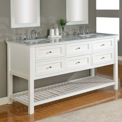 Direct Vanity Sink Mission Spa 70 Double Bathroom Vanity Set Top