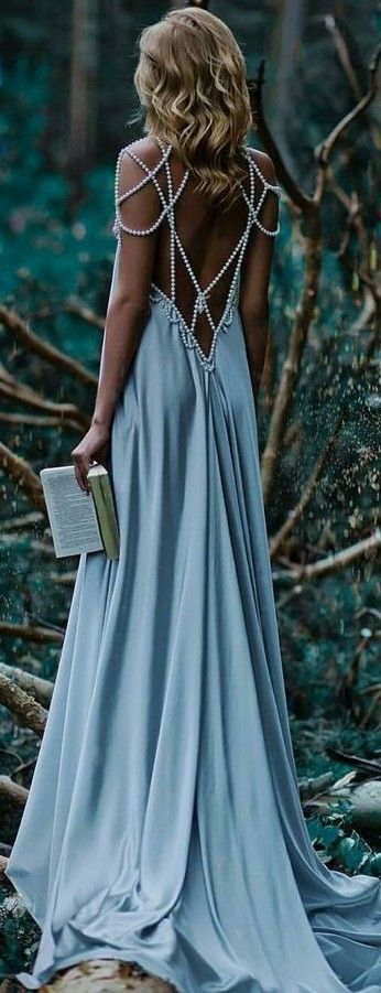 Back Detail Gown                                                                             Source