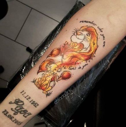 40 Best Ideas For Tattoo Lion King Watercolor Tattoo Lady Bug