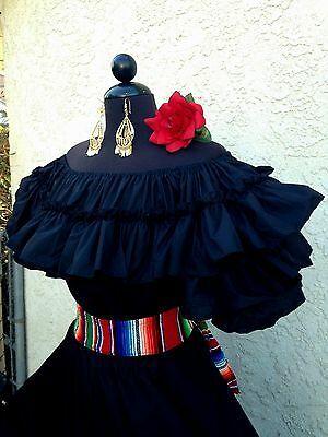 MEXICAN DRESS FIESTA,DAY OF THE DEAD,5 DE MAYO,WEDDING OFF SHOULDER 2PC W// SASH