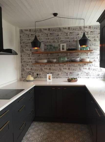 58 Ideas Kitchen Backsplash Wallpaper Faux Brick Brick Wallpaper Kitchen Dream Kitchen Kitchen